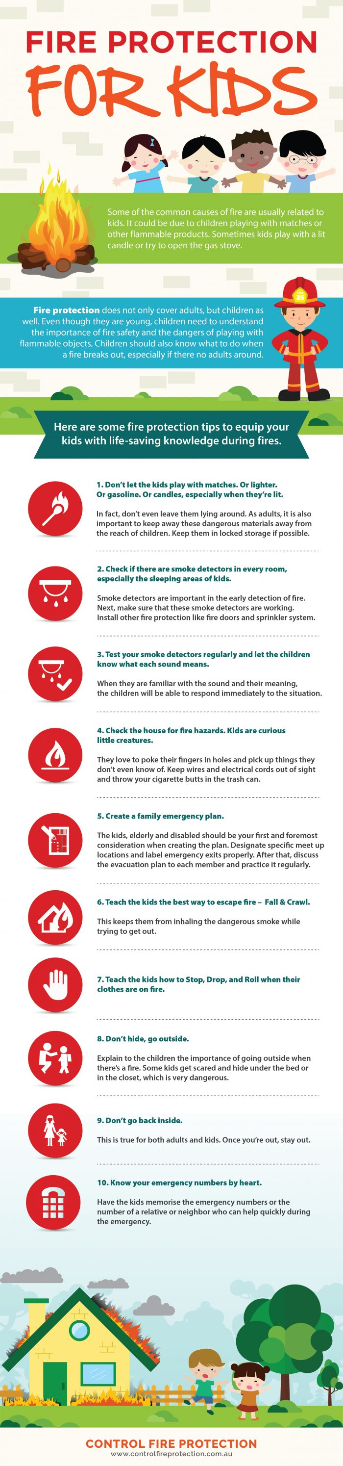 Fire Protection For Kids Infographic